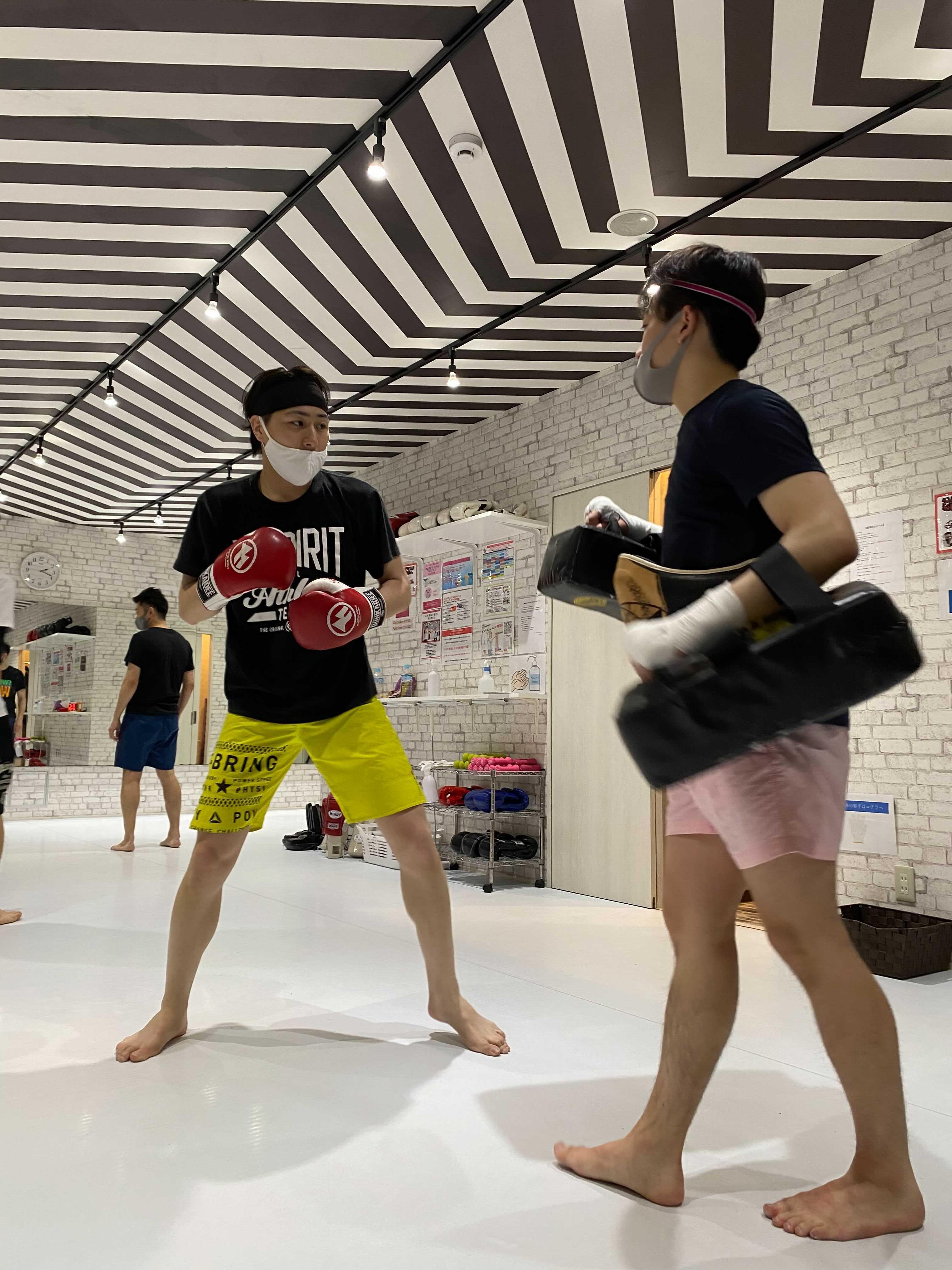 サーバーサイドエンジニア 月田さん ボクシング風景
